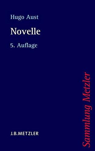 Novelle (Sammlung Metzler, Band 256)