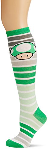 Nintendo - Green Mushroom Stripes Knee High (Calzini)