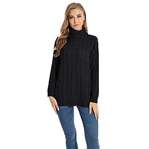 Damen Pullover Elegant Rollkragen Rollkragen Herbst Winter Casual Solide Lange Sweater