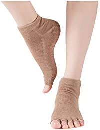 Zhuhaimei,3 pares de calcetines de yoga profesional para mujer calcetines antideslizantes