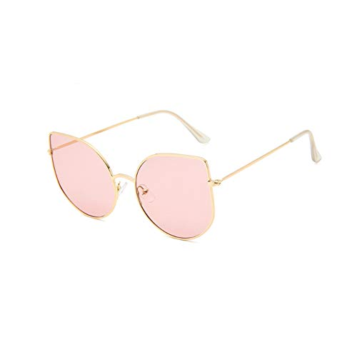 Huanxin Whomen Cat Eye Sonnenbrillen, Retro Big Frame Sonnenbrillen Polarized 100% UV400 Schutz, Metal Wear Frame Quay Outdoor Sonnenbrillen,b
