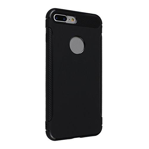 Coque iPhone 7 Plus Gel, Case iPhone 8 Plus Coque de Protecteur, Moon mood® Doux TPU Arrière Etui Couverture de Protection pour Apple iPhone 7 Plus 5,5 pouces Soft Case Cover Bumper Shell Souple Boîti 2PCS -3