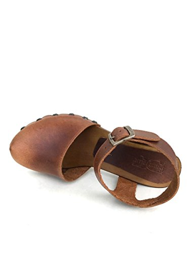 Sandali sabot DV90152 in pelle Divine Follie zoccoli tacco MainApps Cuoio