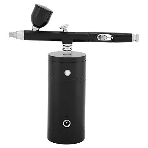Airbrush-Set - 0,3 mm Mini-Luftkompressor-Spritzpistole, Airbrush-Pistole, 7CC-Kapazitätsset für Paint Art, Tattoo, Nail Design (Farbe : Black)