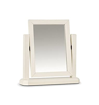 Julian Bowen Portland Dressing Table Mirror, Wood, Ivory - inexpensive UK light shop.