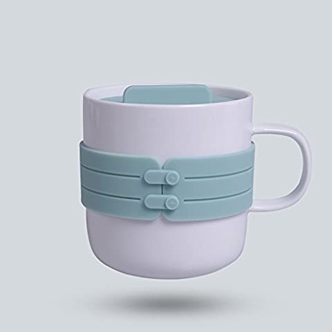 Fuf.Mcl Ceramic Cups Creative Couples Cup With Cover Water Bowl