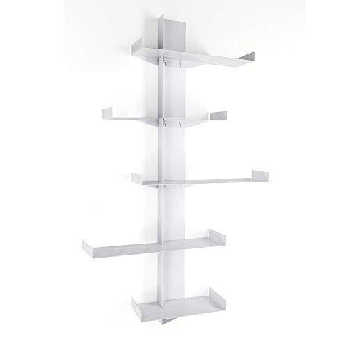 Wink Design Maya Tree Libreria, Metallo, Bianco, 133x20x160 cm