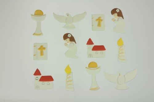 Kommunion-Set Mädchen, Zucker-Aufleger, 12 Stück Kommunion-sets Für Kirchen
