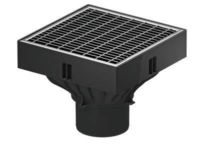 Schlammeimer 250x250x205 mm Aco Self XtraPoint Punktablauf Hofablauf mit Kunststoffrost Klasse B125 inkl