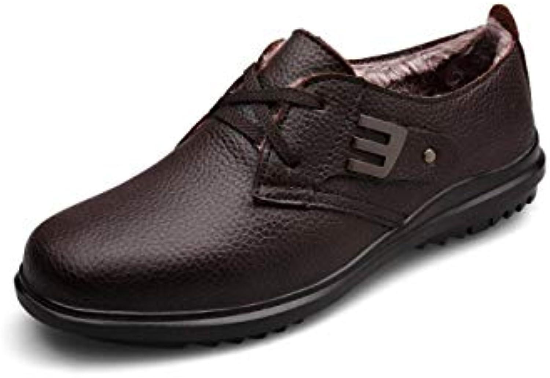 Jiang-ZX Chaussures pour Homme , , , Chaussures de Coton d'hiver Plus Chaud Cuir Rétro Chaussures en Cuir Chaussures... 20c737