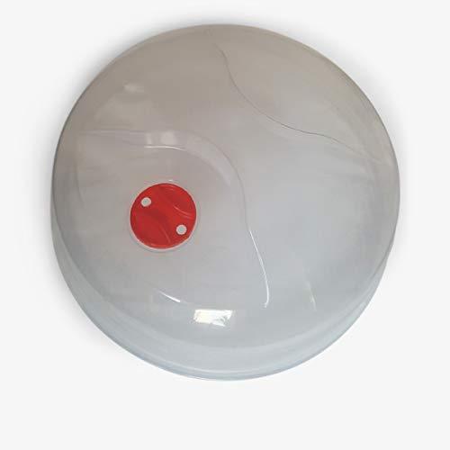 Mikrowellen-Abdeckhaube, leicht zu greifen, 24,5 cm, BPA-frei, spülmaschinenfest