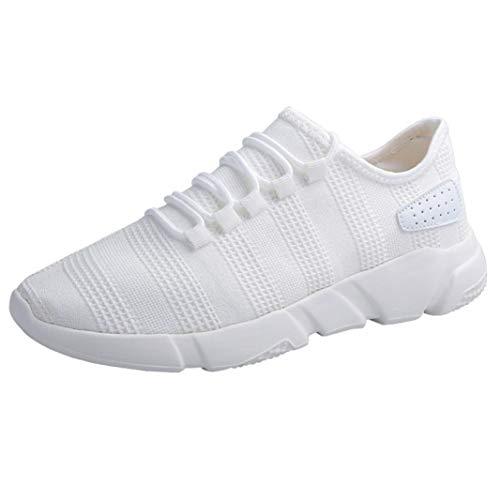 WWricotta Zapatillas de Correr Hombre Malla Casual Cómodas Calzado Deportivo Zapatos Planos Informales Bambas de Running