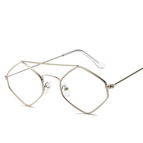 Sonnenbrille Kleine Raute Sonnenbrille Frauen Retro Quadratischen Rahmen Kleine Katze Auge Sonnenbrille Lila Gläser Weiblichen Eyewear Frame Silber Transparente Spiegel