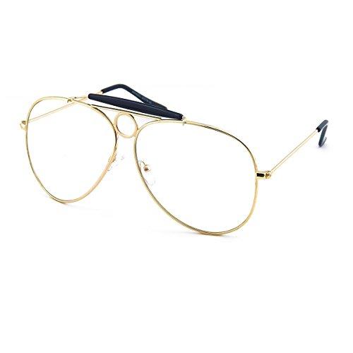 Kiss Brillen in neutralen mod. ANGST UND DELIRIUM - rahmen von vista JOHNNY DEPP mann frau Stil AVIATORE - GOLD and BLACK
