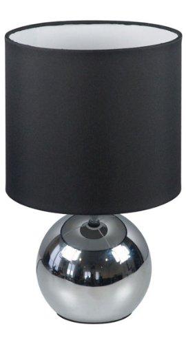 Axel Tischleuchte (Ranex 6000.196 Tischleuchte Noa mit Touchfunktion, Stahl, schwarz, 18.9 x 18.9 x 20.5 cm)