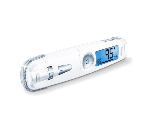 Beurer GL 50 Misuratore di Glicemia 3 in 1 (mg/dL) Senza Codifica, Penna pungidito, Plug in USB con Software Integrato e Misuratore in un Solo Strumento, Colore Bianco