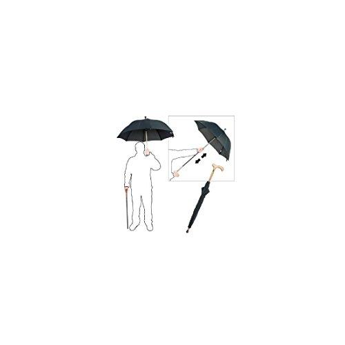 CHR Paraguas Clásico, 2 Piezas, Color Negro Chr