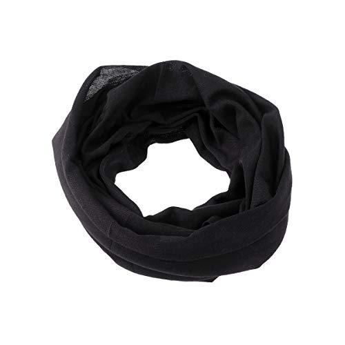 BESPORTBLE Outdoor Sport Caps Radfahren Schnell trocknender Schal Haarband Hals Schal Snood Haarschmuck für Frauen Männer (Schwarz)