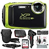 Fujifilm FinePix XP130 Waterproof & Shockproof Wi-Fi Digital Camera (Lime) with 32GB Card