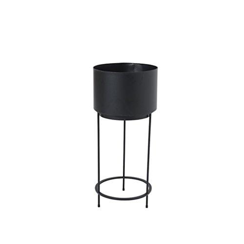 MLHJ Stand de Fleurs- Étagère Simple Moderne de Fleur, Cadre de bonsaï de Plancher, Support de Plantes de Salon, Supports de Fleur de Fer (Couleur : Noir, Taille : 90 * 40cm)