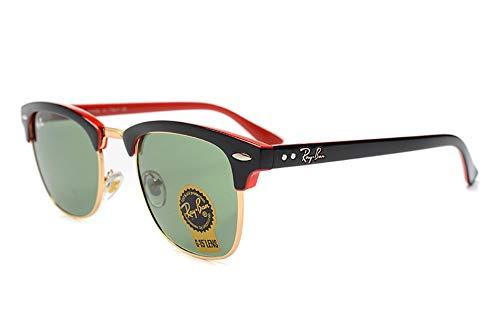 FUZHISI Sonnenbrillen Outdoor Brille Wayfarer für Männer/Frauen Bequeme Sonnenbrille polarisiert, rot