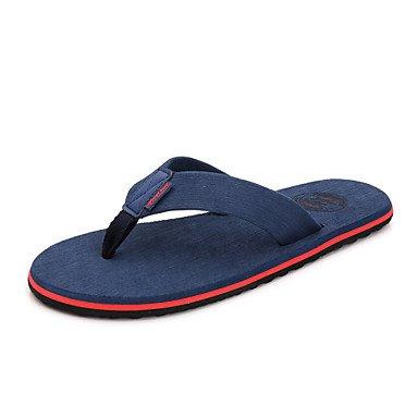 Homens De Preto Verão Chinelos Casuais Sandálias Sapatas Pano De Azul Das Flip Azul Dos flops 8ZRaWqXx