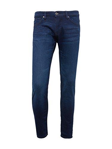 ea0eb5ab86b5 TOM TAILOR Denim Herren Skinny Jeans Super Slim Piers Blue Wash used dark  stone blue denim