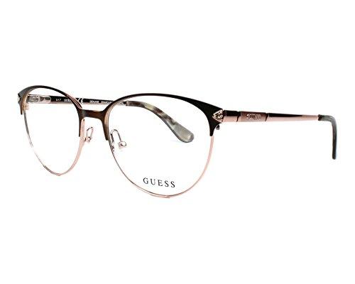 Guess Unisex-Erwachsene GU2633 049 52 Brillengestelle, Braun (Marrone Scuro Op),