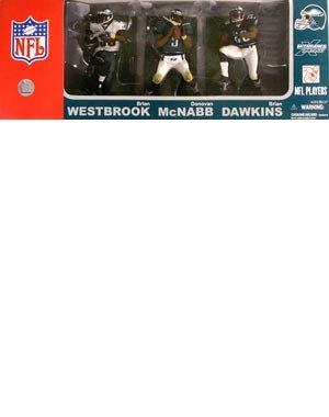 McFarlane Toys NFL Sports Picks Exclusive Philadelphia Eagles Action Figure 3-Pack (Donovan McNabb 2, Brian Dawkins & Brian Westbrook)