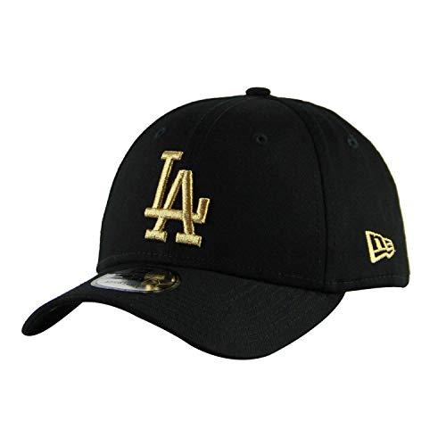 New Era 9Forty Unisex Damen Herren MLB League Essential/Brand Logo 940 Adjustable Cap Strapback Cap Baseball Cap mit 7kmh Aufkleber Schwarz