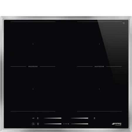 SMEG SI2M7643FX Piano Cottura Nero Incasso A induzione, 2300 W, Vetro