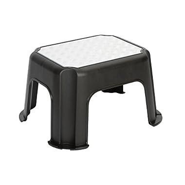 Rotho Paso Tritthocker, Kunststoff (PP), schwarz, (43,1 x 35,8 x 23,8 cm)