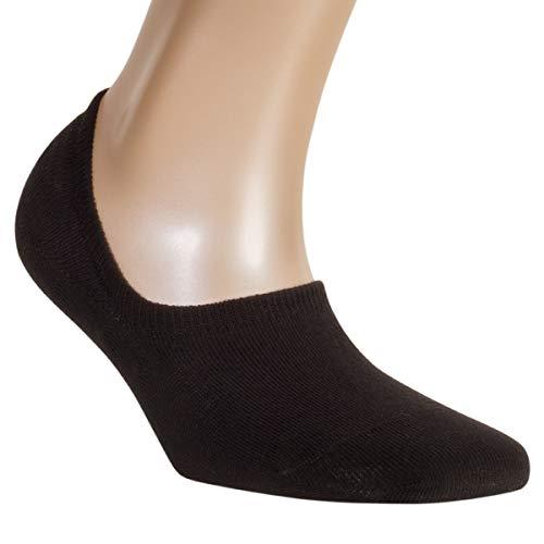 ALL ABOUT SOCKS Unsichtbare Sneaker Socken Herren & Damen schwarz 39-42 - RUTSCHFEST - PREMIUM Sneakersocken - Ohne drückende Zehennaht (5er Pack)
