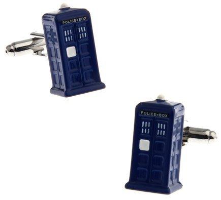 masgemelos–Kabine Manschettenknöpfe Tardis Doctor Who Cufflinks