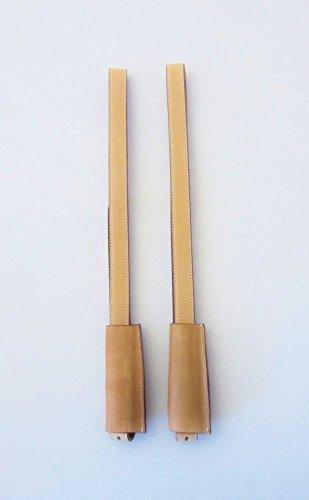 Paar Englische Steigbügelriemen mit 2,5 cm Breite - Farbe - Natur / Beige / Cognac Farbe Natur 130 cm Länge