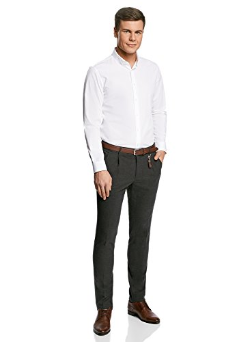 oodji Ultra Homme Pantalon Classique Gris (2500M)
