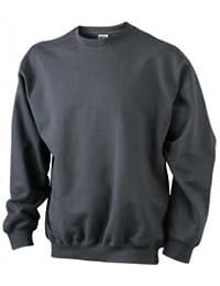 JN-0.40 James+Nicholson Herren Sweatshirt (auch in Übergrößen - bis Größe 5XL)