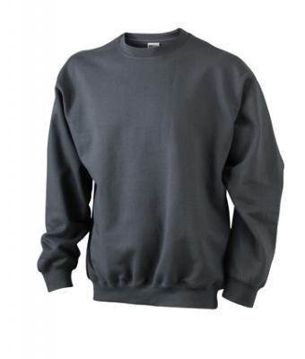 JN-0.40 James+Nicholson Herren Sweatshirt (auch in Übergrößen - bis Größe 5XL), Graphite , Gr. 3XL 3XL,Graphite