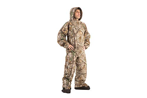 Selk'bag Pursuit The Wearable Bag I Outdoor und Indoor Schlafsack für Camping, Jagd, Angeln, Lounging I Realtree Edge, Realtree Edge, Large