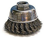 Weiler Steel Cup Brush - Threaded Arbor Attachment - 2 3/4 in Dia M14 x 2 Center Hole - 0.014 in Bristle Dia & 14000 Max RPM - Brush Style: Single Row - 13020 [PRICE is per BRUSH] by Weiler -