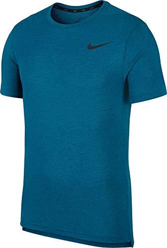 Nike Herren M NK BRT TOP SS HPR Dry T-Shirt, Green Abyss/Htr/Black, XL-T -