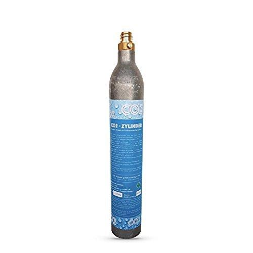 1 x SPRUDELUX® CO2 Zylinder geeignet für Soda Stream Wassersprudler Crystal Sodastream, Cool, Aqvia etc. Bis zu 60 Liter Sprudelwasser pro Füllung! Neu und mit CO2 gefüllt!