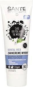 SANTE - Zahncreme Myrrhe - Mit klinisch getestetem Wirkstoff-Komplex - Für einen frischen Atem - Fluoridfrei & vegan - Pflegt & schützt die Zähne - 75 ml (Myrrhe Gum)