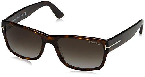 Tom Ford Herren FT0445 52B 56 Sonnenbrille, Braun (Avana Scura/Fumo Grad),