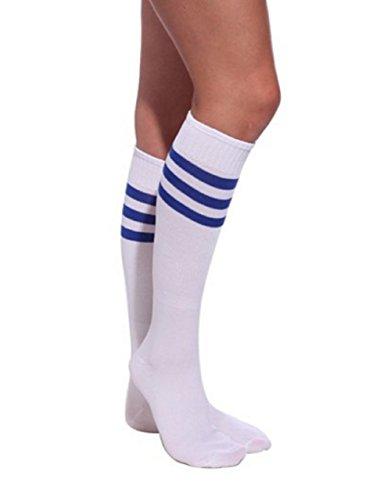 Qissy®Damen Maedchen Fussball Stutzen SportSocken Sport Socken Strumpf Fussballstutzen (One size, (Kostüme Mädchen Fußball Für)