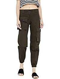 Rider Republic Women Coffee Brown Cargo Pant