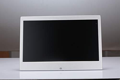 CAMRAR 11,6-Zoll-Widescreen-Digitalfotorahmen Schwarz - Digitalbilderrahmen mit LED-Display und Werbe-Player mit 1080P hochauflösender LCD-AV-HDMI-Fernbedienung,White Full-hd-widescreen-lcd