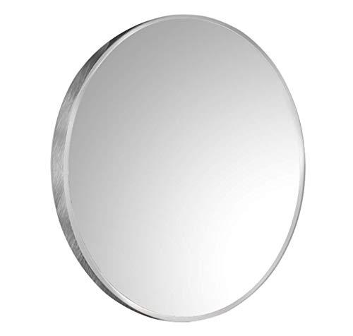 Runde Badezimmer Spiegel Make-up Silber Rahmen eitelkeit rasieren große Dressing dekorative aluminiumlegierung Wohnzimmer Schlafzimmer Premium qualität Glas (Eitelkeit Spiegel Badezimmer)
