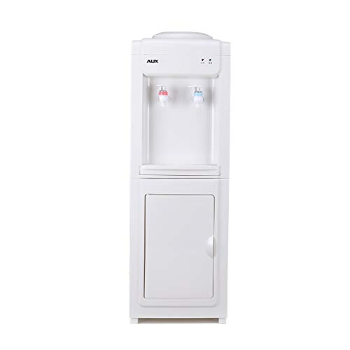 Wenhui Top Loading Water Cooler Dispenser, Normaltemperatur-Wasser, Warmwasser und Kaltwasser Mit Lagerschrank und Tür, freistehender Heiß- und Kaltwasserspender (Color : Warm and hot)