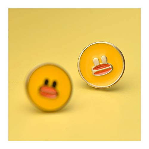 r Ohrringe Ohrstecker Weiblich Zubehör Persönlichkeit Minimalistisch Cute Cartoon Kleine Gelbe Ente Rund Girl Geschenk ()